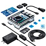 RaspberryPi4ケース/MicroSDHCカード32G NOOBSシステムプリインストール/カードリーダ/5.1V3AType-C スイッチ付電源 PSE取得/MicroHDMI-to-HDMIケーブルライン/アダプター/冷却ファン/日本語取扱説明書(ラスベリー パ Model B 本体は含まれていません)