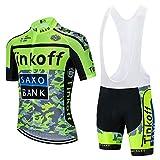 Conjunto Ropa Equipacion, Ciclismo Maillot y Culotte Pantalones Cortos con 3D Gel Pad para Verano Deportes al Aire Libre Ciclo Bicicleta