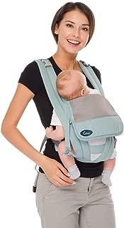 CUBY 抱っこひも ベビースリング おんぶ紐 ベビーキャリー 通気性抜群 軽量 前抱きタイプ 後抱きタイプ 多機能 簡単に脱着(3ヶ月から3歳まで) (ブルー)