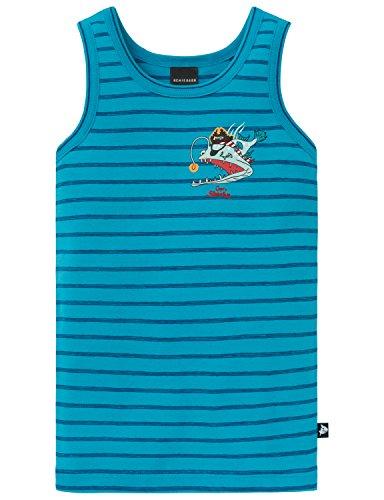 Schiesser Jungen Capt´n Sharky Hemd 0/0 Unterhemd, Blau (Türkis 807), 104