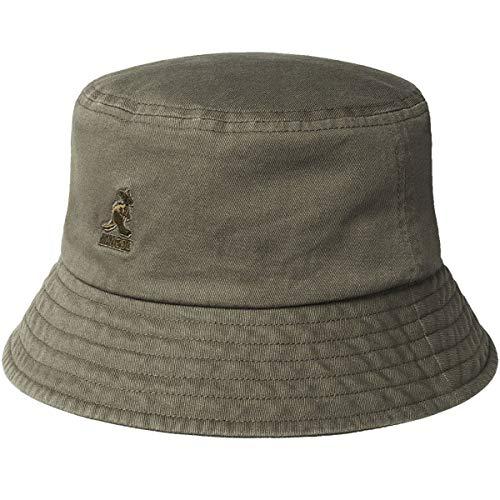 Kangol Fischerhut, gewaschene Baumwolle, für Damen und Herren -  Grau -  MEDIUM
