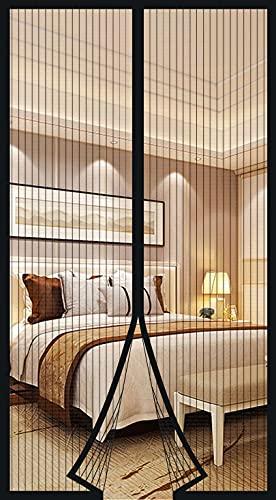 Zanzariera Magnetica per Porte Finestra, Tende Zanzariere con Calamita per Finestre, Zanzariere Magnetiche balcone, si Chiude da Sola (120 x 240cm, nero)