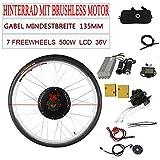OU BEST CHOOSE - Kit de conversión para Bicicleta eléctrica (28', 36 V, 500 W, con Pantalla LCD)
