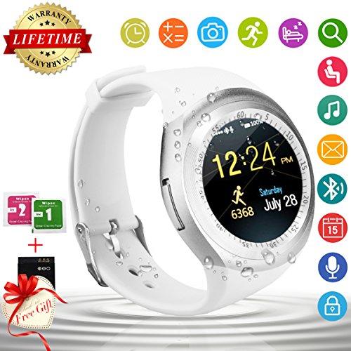 Smartwatch dotato di bluetooth, impermeabile, orologio-cellulare da polso sportivo, con touchscreen, compatibile con smartphone iOS e Android