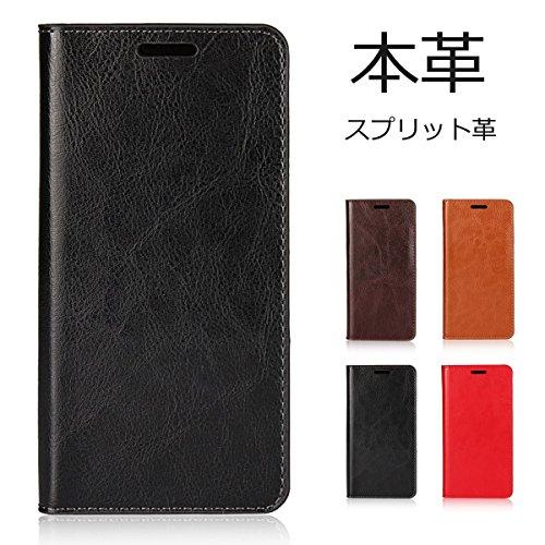 SKIASE Galaxy note8ケース SC-01Kカバー SCV37ケース 手帳型 本革 財布型 レザー マグネット無し スタンド機能 ギャラクシー ブラック