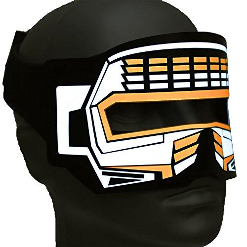 Ucult Soundaktivierte Roboter Sci-Fi Cyborg Augenmaske Masken (Orange)