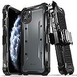 Vena vArmor Rugged Funda Antigolpes Compatible con Apple iPhone 11 Pro Max (6.5'-inch), (Military Grade, Drop Protection) Armor Protección Clip de Cinturón Carcasa con Soporte- Gris