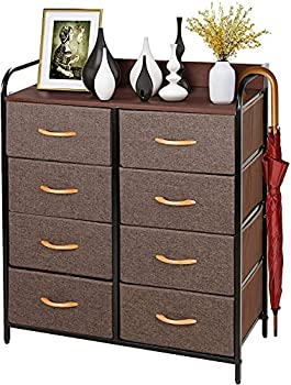 Tusy 8 Drawer Dresser Storage Tower with Wooden Top