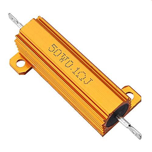Condensadores 50W 0.1R 0.1rj Caja de Aluminio de Metal de Alta Potencia Resistor de Alta Potencia Caja de cáscara de Metal Dorado Resistencia de Resistencia al Calor RX24
