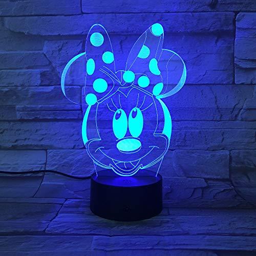 veilleuse 3d Bande Dessinée Mickey Mouse 3D Lampe 7 Couleurs Changement Nuit Light 5V USB Lampe de Table Chevet Humeur Lumière pour Enfants Lava Lampe Drop Shipping