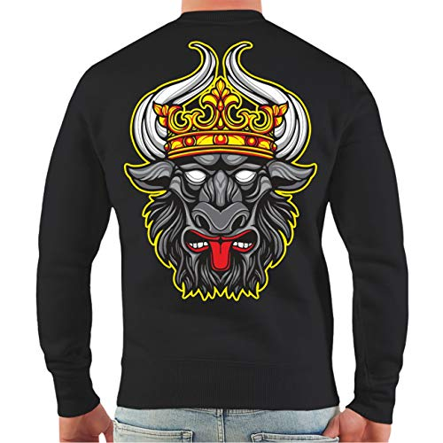 Spaß kostet Männer und Herren Übergrößen Sweatshirt Ostdeutschland Mecklenburg (mit Rückendruck) Wappen Größe 5XL - 8XL