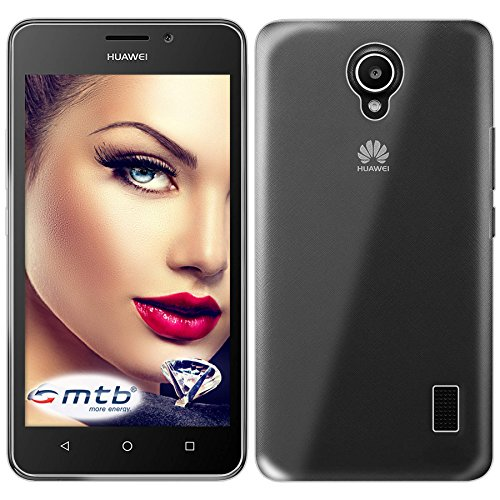 mtb more energy® Schutz-Hülle Clear und Slim für Huawei Ascend Y635 (5.0'') - transparent - flexibel - TPU Silikon Hülle Cover Tasche
