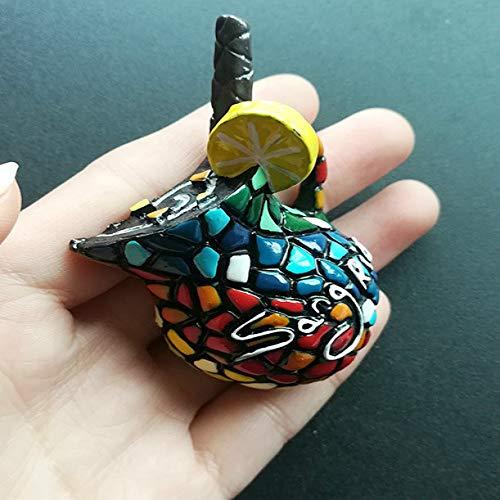 shenlanyu Imanes de nevera de frutas españolas vino miel olla sangria exquisitos recuerdos 3D resina imanes nevera decoración regalos ideas 4.5x6cm