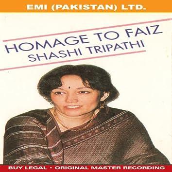 Homage To Faiz  ' Shashi Tripathi '