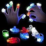 100 Luces Dedo LED, Anillos con Luces, Anillo Luminosos  Fuerte Elástico, Hasta 8 Horas Duración Batería  Niños...