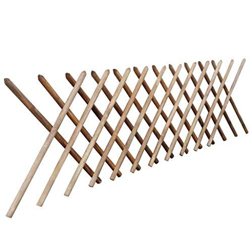 Jägerzaun Gartenzaun aus imprägniertem Holz erweiterbar 250 x 100 cm Material: Kiefernholz, braun imprägniert (verrotungsbeständig)