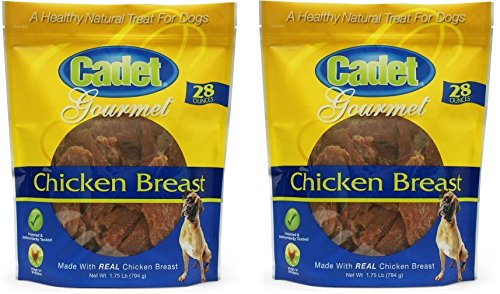 Cadet Chicken Breast Jerky Dog Treats, 28 Ounces Per Bag (2 Pack)