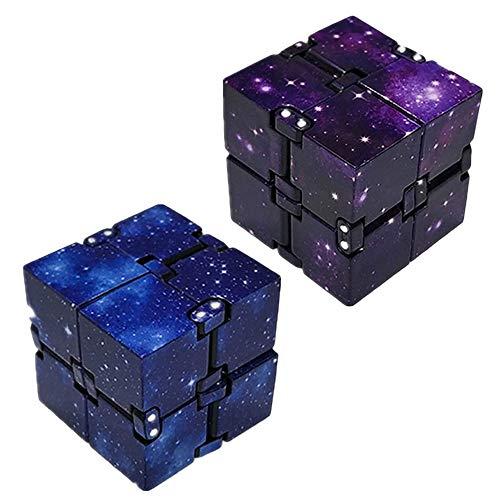 2 PCS Fidget Cube,Infinity Cube Metall,Cube Würfel für Erwachsene und Kinder, Anti Stress Würfel zur Linderung von Angstzuständen,Infinity Cube für überall und Jederzeit,Wichtelgeschenk unter 10 euro