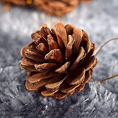 Christmas Natural Pine Cones, Christmas Rustic Pinecones Fall Garland Halloween Thanksgiving Decorations, Suitable for Christ