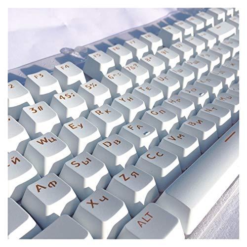 Teclado de computadora y Accesorios de ratón ABS KeyCaps Light Penetra por la Parte Superior Impresa para los interruptores de Tapa de Teclas mecánicos MX Mecánica 104 Teclas para teclados mecánicos.