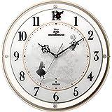 リズム(RHYTHM) 置き時計・掛け時計 Φ34.1x5.4cm ディズニー キャラクター 電波 アナログ アリス Alice 4MY854MC14