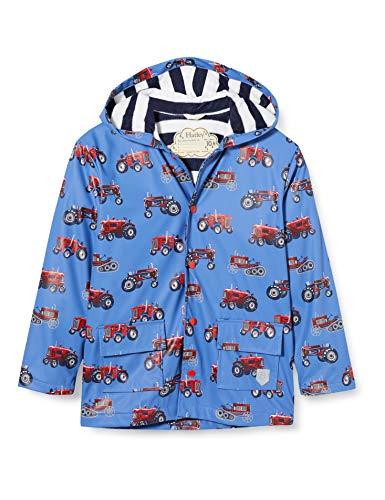 Hatley Jungen Printed Raincoat Regenmantel, Vintage Traktoren, 8 Years