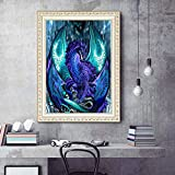5D DIY Diamante Pintura Flying Dragon Crystal Glue Set, decoración de la habitación de los niños en el hogar 40x50 cm