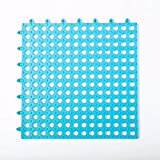 OMUSAKA Alfombra de baño de PVC Color Caramelo Seguridad Antideslizante Costuras de Bricolaje Impermeable Drenaje Alfombra de Piso Plegable 29.5x29.5cm