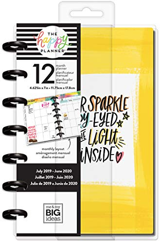 Me & My Big Ideas Happy 12 Mesi datato Mini Planner 5,125'x7.5'-Scegli per Shind, luglio 2019-giugno 2020 PLNM-130
