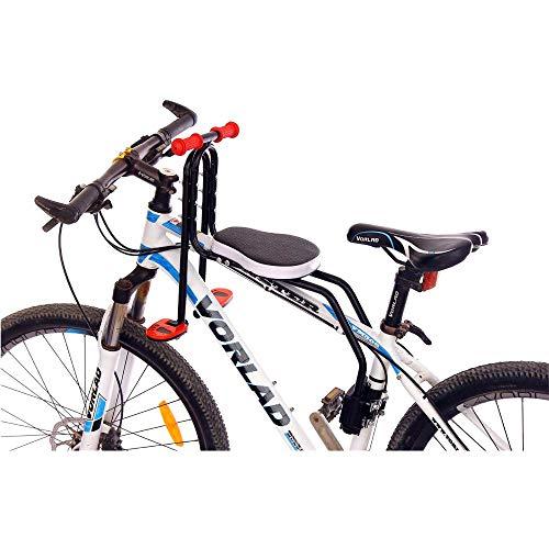 DKZK Fahrradkindersitz Vorne, Fahrradkindersitz Kinderfahrradsattel Abnehmbarer Kindersitz Vorne Mit Pedal Und Griff Geeignet FüR Kinder Von 2-6 Jahren