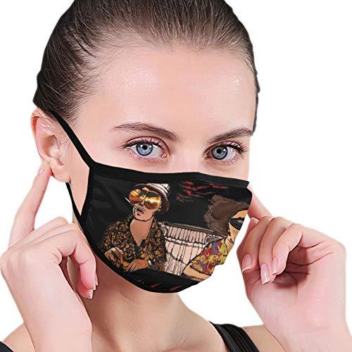 Mengghy Pañuelo Salvador Dali Fear And Loathing In Las Vegas sin costuras a prueba de polvo, bandana cara cubre bufanda reutilizable