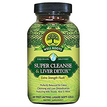 Well Roots Super Cleanse and Liver Detox Supplement 60 Count