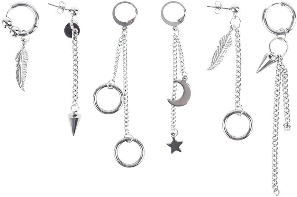 FEIlei Earrings In stock Fashion Women Men Tassel Pendant Punk Ear Stud Mail order