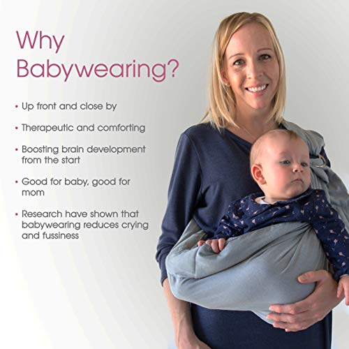 Baby Ring Sling Wrap Carrier: Extra Comfortable Slings and Wraps for Easy Wearing and Carrying of Babies, Newborn, Infant to Toddler. Carriers Ideal for Baby Registry, Breastfeeding and Nursing