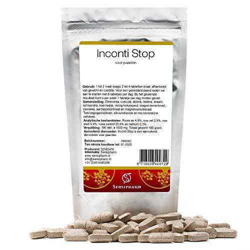 Sensipharm Inconti Stop für Pferde 180 Tabletten - Hilft Natürlich bei Inkontinenz (Blasenschwäche)