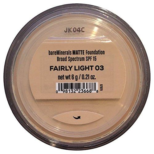 Bare Escentuals BareMinerals Mineral Foundation MATTE SPF15 FAIRLY LIGHT 6g Large by Bare Escentuals