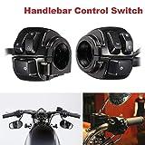 MASO Par de interruptores de control de manillar de motocicleta de 25 mm con arnés de cableado para 1996-2012 Sportster 883 1200