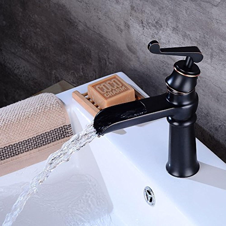 Lvsede Bad Wasserhahn Design Küchenarmatur Niederdruck Schwarze Wasserfallspüle Einzeln Warm Und Kalt Gemischt A367L