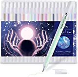 Ohuhu White Gel Pen Set for Highlighting on Markers Colored pencils Watercolor Paintings