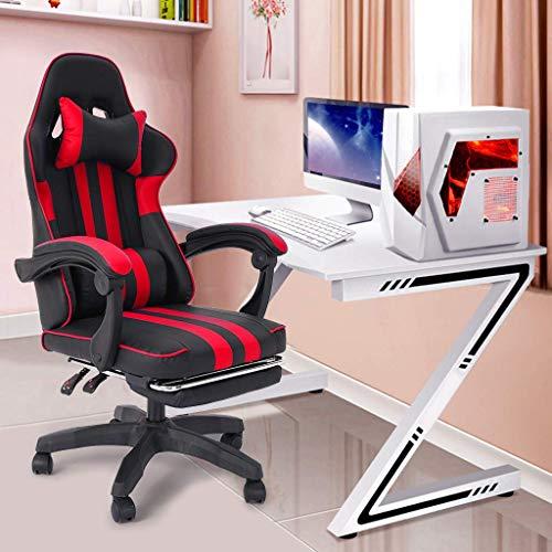 Gtracing Chair Gaming, Silla para juegos Silla para computadora con reposapiés Respaldo ajustable Silla reclinable de cuero para oficina Silla ergonómica para videojuegos con asiento cómodo para ofic