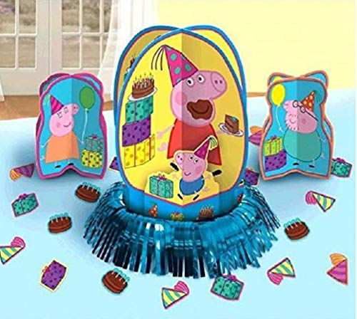 Peppa Pig Party Table Decorations Kit ( Centerpiece Kit ) 23 PCS - Kids Birthday and Party Supplies Decoration