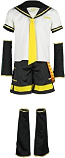 Vocaloid Cosplay Kagamine Len Costume Sailor Suit Mens Uniform Halloween Outfit