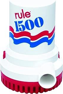 Rule 1500 GPH Marine Bilge Pump, Non-Automatic