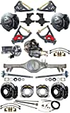 2' DROP SUSPENSION & WILWOOD BRAKE SET FOR 59-64 IMPALA, CURRIE REAR END, AXLES, 9' FORD POSI-TRAC 3RD MEMBER, BLACK CALIPERS, 11' DRILLED ROTORS, SPINDLES, MASTER CYLINDER, BOOSTER, BEL AIR BROOKWOOD