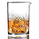 Hiware Professional Cocktail Mixing Glass - Thick Bottom Seamless Crystal Mixing Glass 24oz (700ml), Home Bar Kit