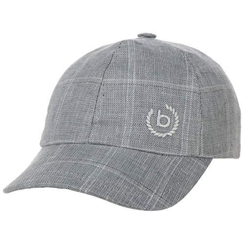 Bugatti Tobi Leinencap Cap Basecap Baseballcap Sommercap (58 cm - blau-meliert)