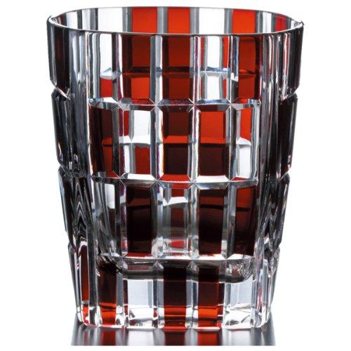 NARUMI アーバン ロックグラス(赤) 270cc ソーダガラス GW6052-222RD