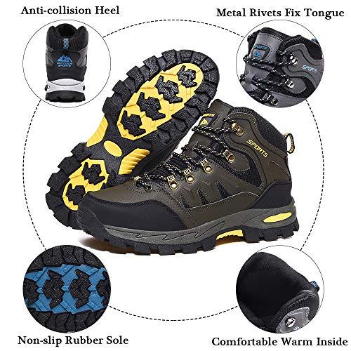 Rokiemen Zapatillas de Trekking para Hombre Botas de Montaña Zapatillas Senderismo Transpirable Antideslizante Al Aire Libre Zapatillas de Camping Verde 41 EU