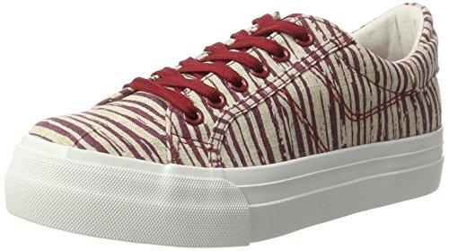 Tamaris Damen 23602 Sneakers, Mehrfarbig (RED/BEIGE 577), 39 EU