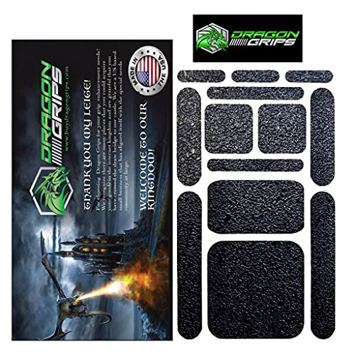 Dragon Grips 13 pc Grip Tape Set. Cell Phone Grip Stickers / Mouse Grip Tape. Multi-Purpose Black Rubberized Grip Tape for Phone Grips, Phone Case Grip, Laptop, iPad, Tablets & Gaming Controllers